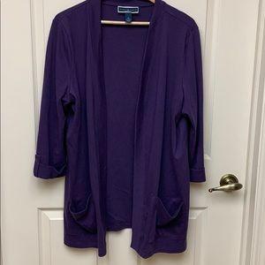 Karen Scott Long Cotton Jacket